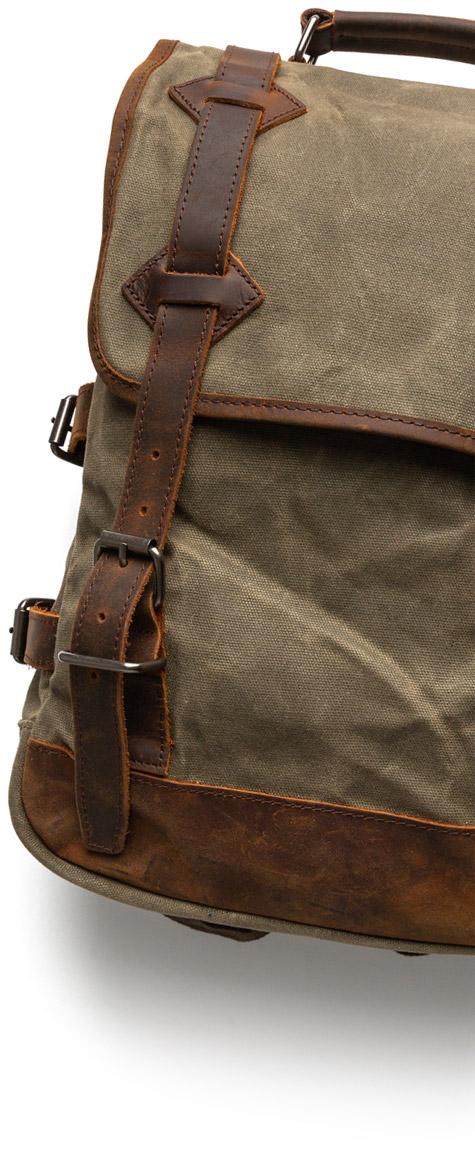 rugged backpack on white background