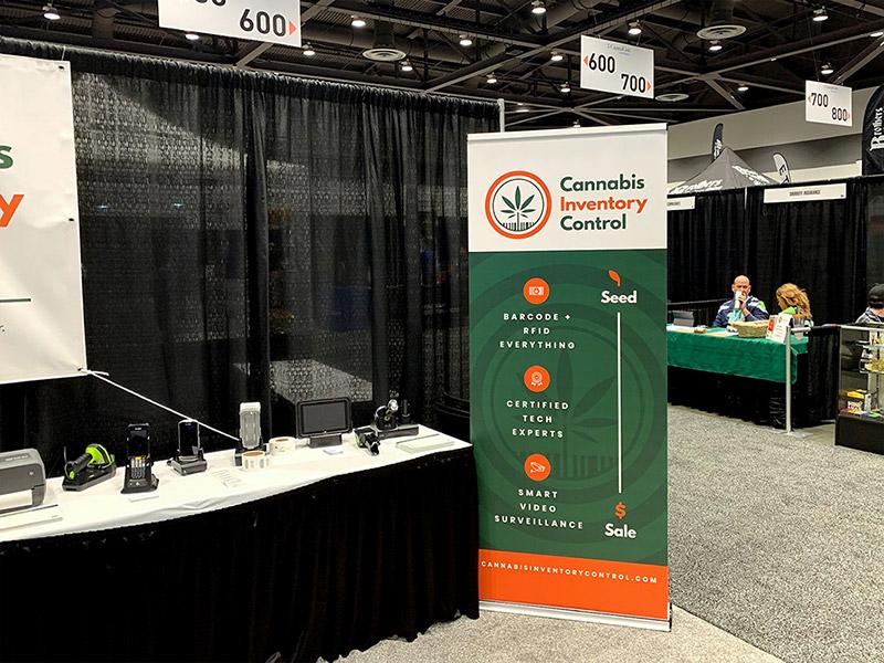 Cannabis Inventory Control pop-up banner design