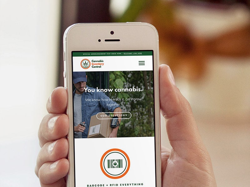 Cannabis Inventory Control responsive website design