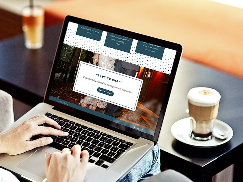 Unali Events website design