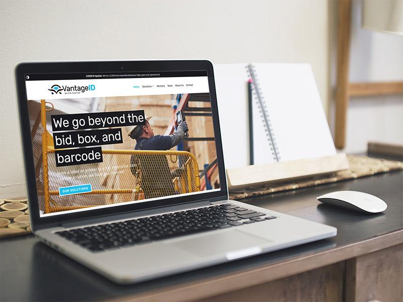 VantageID website design