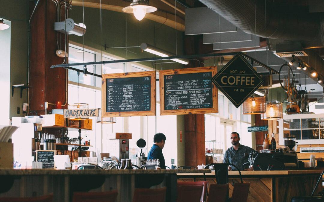 cozy cafe setting