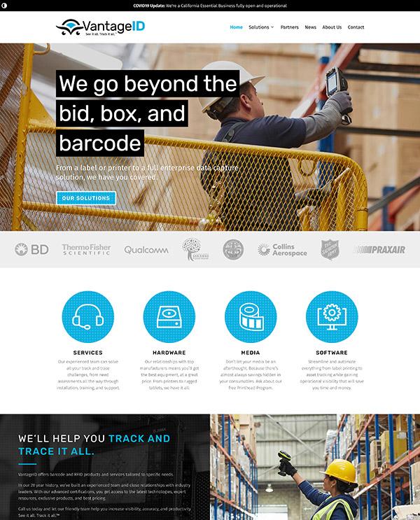 VantageID homepage