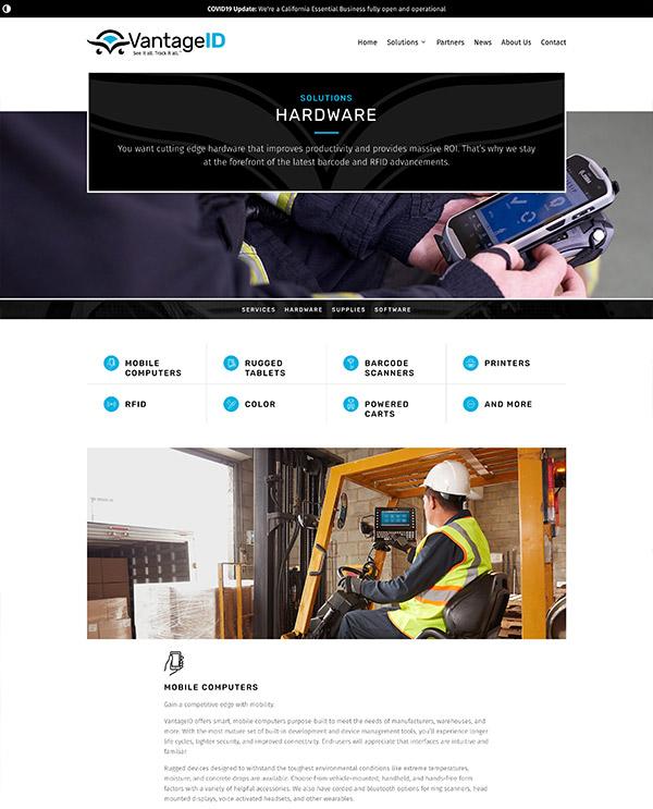VantageID Hardware page
