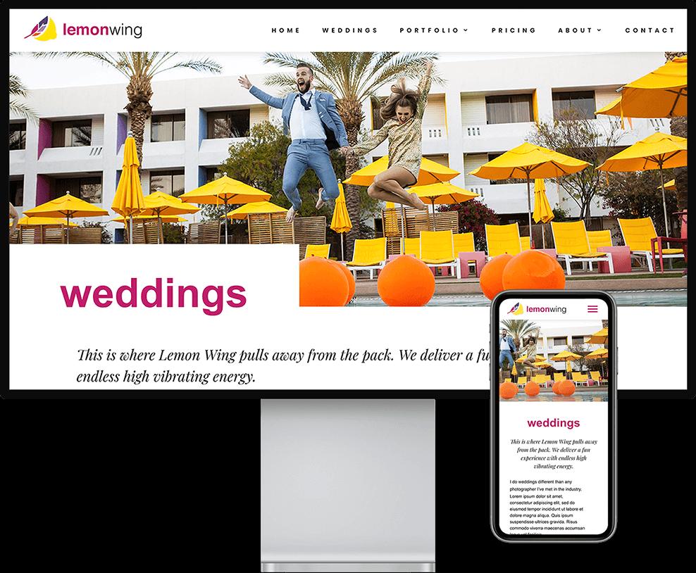 Lemon Wing website on desktop and mobile devices