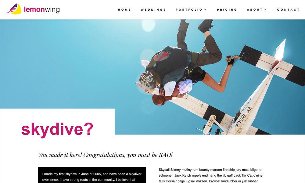 Lemon Wing Skydive page