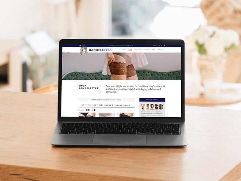 Bandelettes website design
