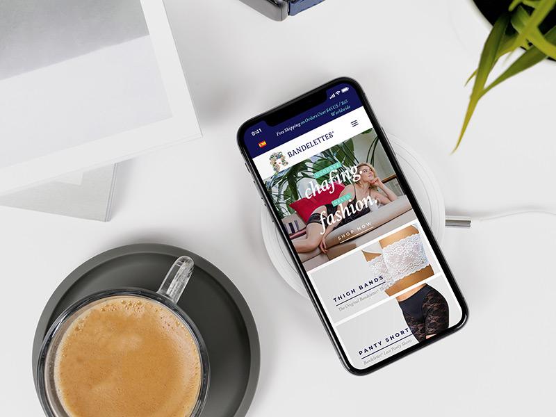 Bandelettes responsive website design