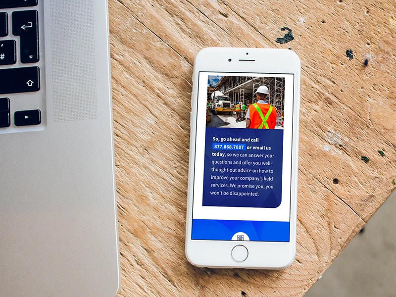 BlueImage responsive website design