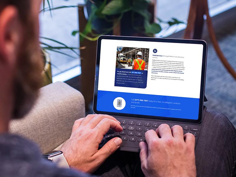 BlueImage website design