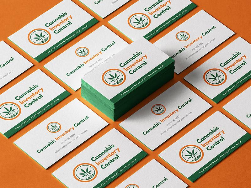 Cannabis Inventory Control business card design