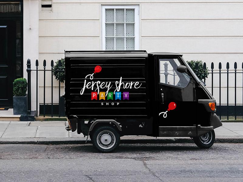 Jersey Shore Party Shop logo design