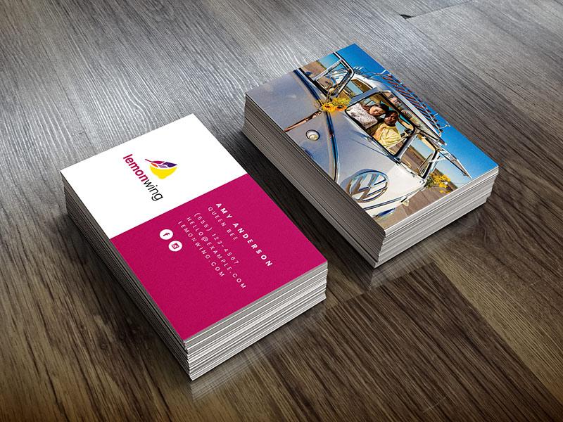 Lemon Wing business card design