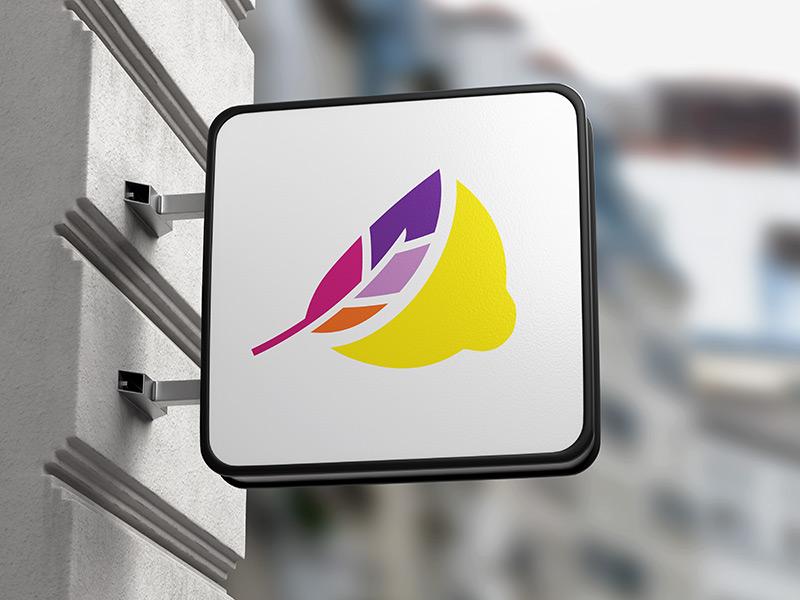 Lemon Wing logomark design