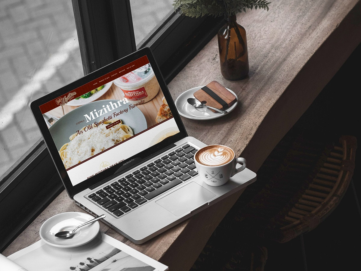 Mizithra website design