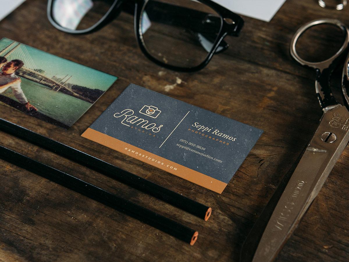 Ramos Studios business card design