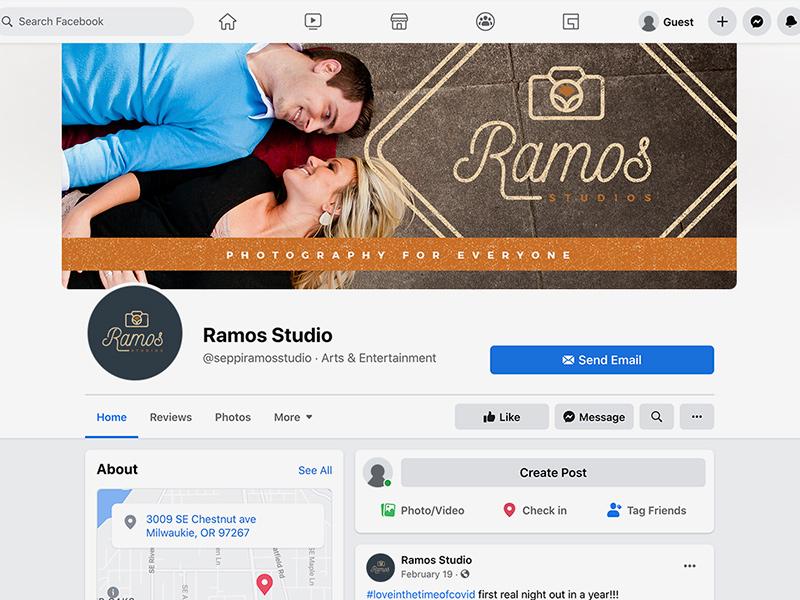 Ramos Studios Facebook branding