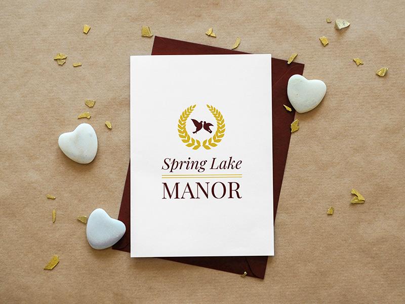 Spring Lake Manor logo design