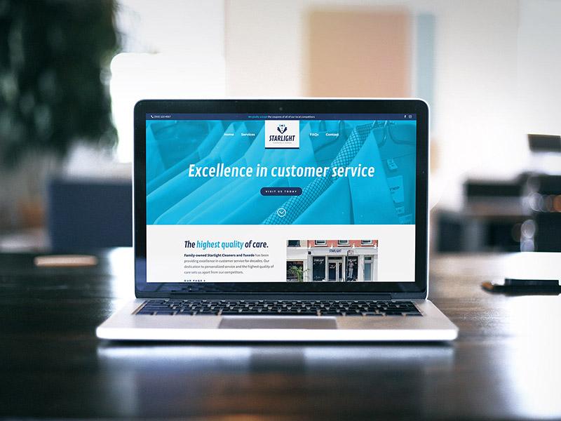 Starlight Cleaners & Tuxedo website design