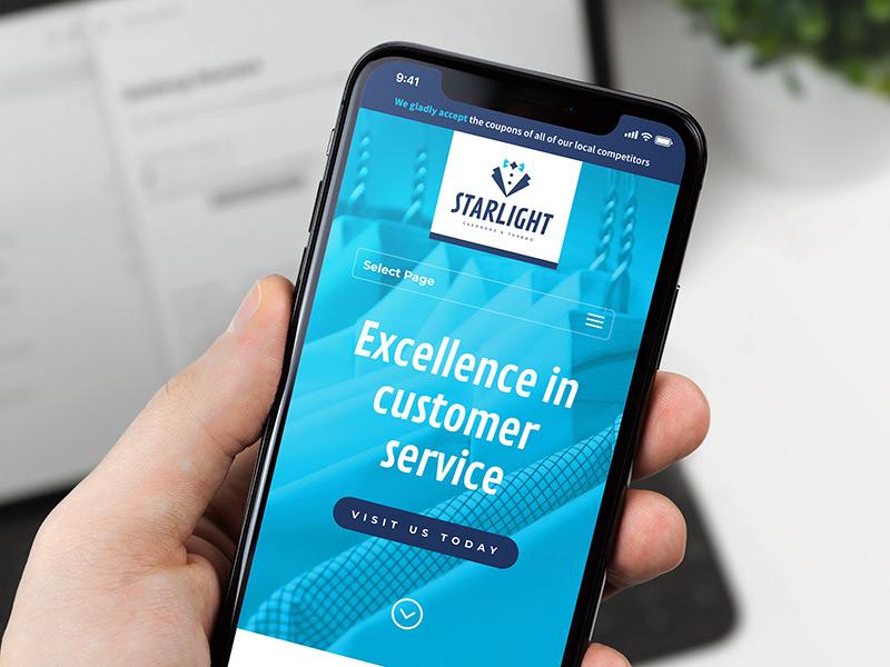 Starlight Cleaners & Tuxedo responsive website design
