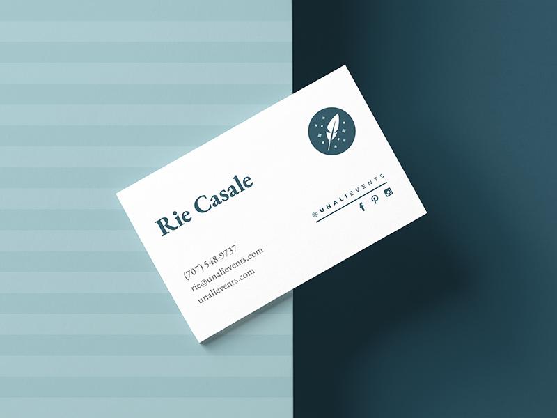 Unali Events business card design