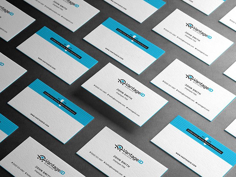 VantageID business card design