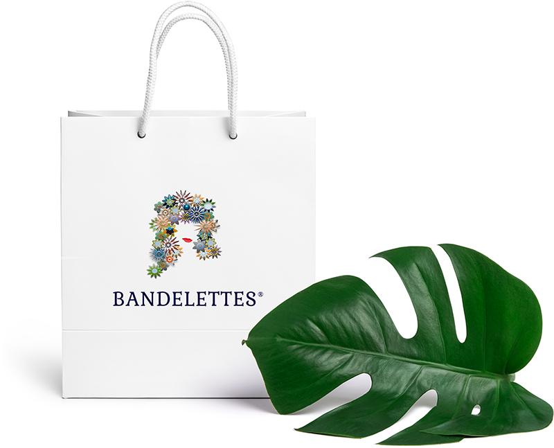 Bandelettes logo shopping bag context example